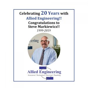 Steve Celebrates 20 Years at Allied Engineering