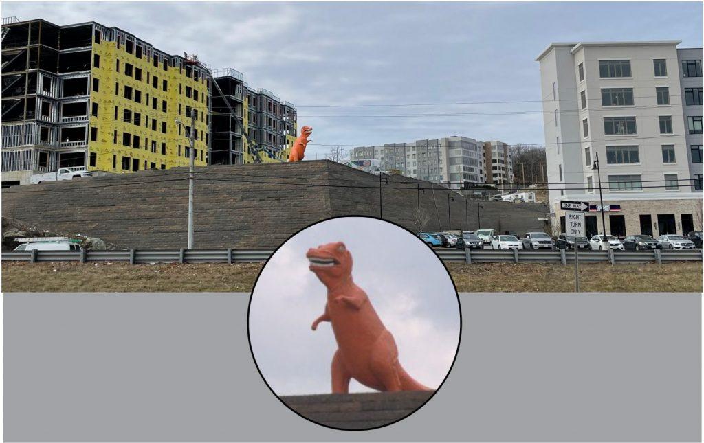 Iconic Orange Dinosaur Still Remains on Site